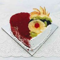 Butter-scotch-Heart-fruit-cake
