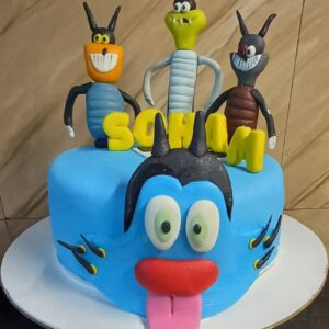 Oggy Cartoon cake